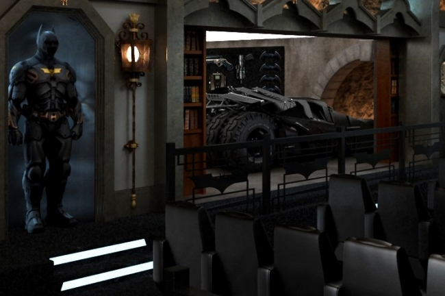 Crazy Batcave Home Theater Theaudiodope