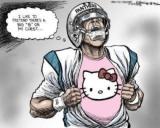 Cam Newton Cartoon: Shut up Stephen A.Smith