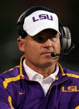 LSU football coach is a fan of Ricky Bobby