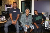 Pharrell in studio with Jay-Z and FrankOcean
